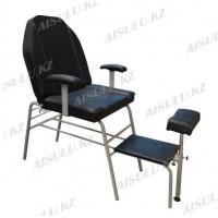 AS-8513 Кресло педикюрное (черное, гладкое)