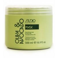 Маска питательная для волос Studio с маслом оливы 500 мл