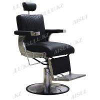 AS-7784 Кресло парикмахерское для барбершопа (черное,