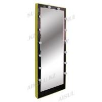 AS-1188 Зеркало для визажиста навесное с подсветкой (черное)