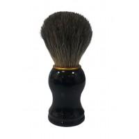 Помазок для бритья из ворса барсука #1-25 C, с деревян. черной ручкой