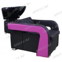 AS-6011 Мойка парикмахерская с креслом (черно-сиреневая)