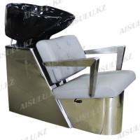 AS-8091 Мойка парикмахерская с креслом (серая)