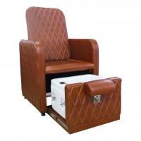 AS-0889 Кресло педикюрное с ванночкой (светло-коричневое)