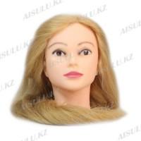 Болванка учебная для парикмахера ТМ-013 50% натур. волосы 80 см (светло-русый)