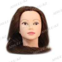 Болванка учебная для парикмахера ТМ-012 50% натур. волосы 80 см (светло-коричневый)