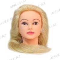 Болванка учебная для парикмахера ТМ-010 70% натур. волосы 70 см (блондин)
