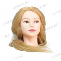 Болванка учебная для парикмахера ТМ-008 70% натур. волосы 70 см (светло-русый)