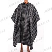 Пеньюар для парикмахера AISULU с рукавами #16-54 GG черный