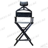 Кресло для визажиста с подголовником (черное)