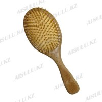Массажка AISULU №3040 деревянная, овальная, деревян. зубчики