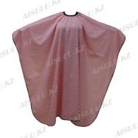 Пеньюар для парикмахера AISULU WB-18 (рис. шахматный) красно-белый