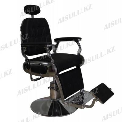 AS-7747 Кресло парикмахерское для барбершопа (черное,