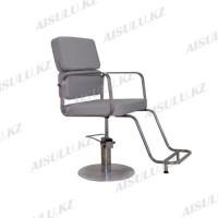 AS-6668 Кресло парикмахерское  с двойной спинкой (светло-серое)