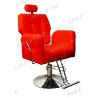 AS-8682 Кресло парикмахерское с откидной спинкой (красное, гладкое)
