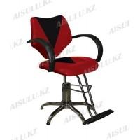 JH-818 Кресло парикмахерское (красно-черное, гладкое)