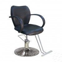 AS-8153 Кресло парикмахерское (черное, гладкое)