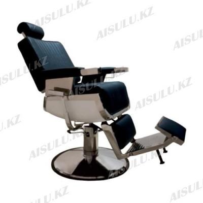 AS-7704 Кресло парикмахерское для барбершопа (черное, гладкое)