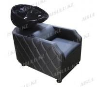 AS-007 Мойка парикмахерская с креслом (черная,