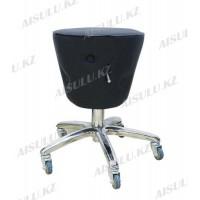 AS-3088 Стул для мастера конусный с кантом и пуговицей (черный, гладкий)