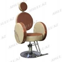 AS-6688 Кресло парикмахерское (комбинир. коричневое)