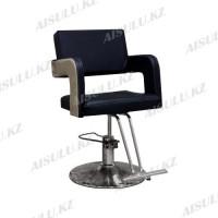 AS-8882 Кресло парикмахерское (черно-бежевое, гладкое)
