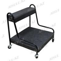 TR-065 Подставка педикюрная для ног (черный, матовый)