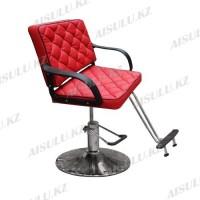 AS-8858 Кресло парикмахерское (красное, гладкое)