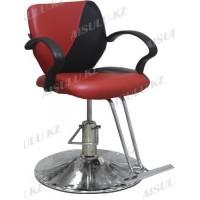JH-866 Кресло парикмахерское (черно-красное, гладкое)