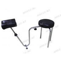 B-34 Подставка педикюрная с креслом для мастера без спинки (черная, глянец,