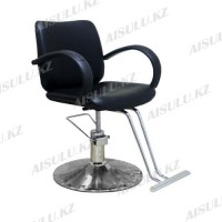 JH-828 Кресло парикмахерское (черное, гладкое)