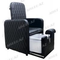 AS-0889 Кресло педикюрное с ванночкой (черное)