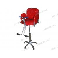B-069 Кресло парикмахерское детское (красное, дождик)