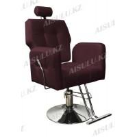 AS-8682 Кресло парикмахерское с откидной спинкой (темно-коричневое, гладкое)