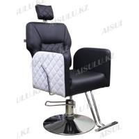 AS-6677 Кресло парикмахерское с откидной спинкой (черно-белое)