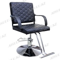 AS-8828 Кресло парикмахерское (черное, гладкое)