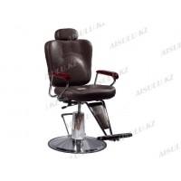 B-1010 Кресло парикмахерское с откидной спинкой (коричневое,