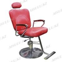 B-1010 Кресло парикмахерское с откидной спинкой (красное,