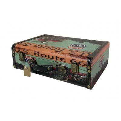 Чемодан/кейс для барбера кожзам с двумя замками 34 х 25 х 12 см в ассорт.