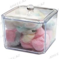 Ватные шарики в пластиковой посуде с крышкой (100 шт.)