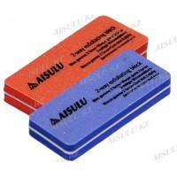 Бафик для шлифовки искусственных ногтей (oранж., фиолет) (2 шт.)