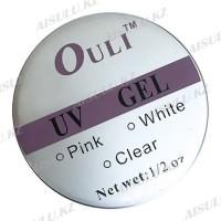 UV Гель для наращивания ногтей 1/ 2 oz (white) Ouli