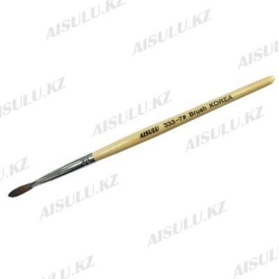 Кисточка для акрила №333 - 7# (с деревянной ручкой) AISULU