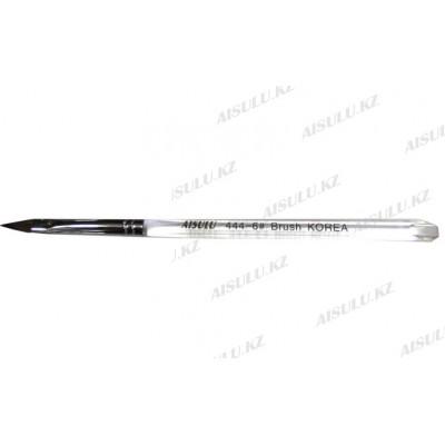 Кисточка для акрила №444 - 6# (с прозрачной ручкой) AISULU