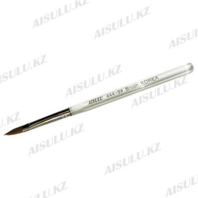 Кисточка для акрила №444 - 9# (с прозрачной ручкой) AISULU