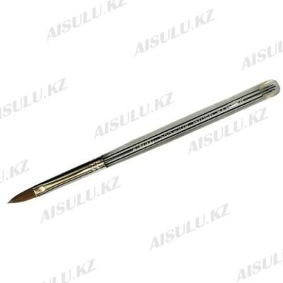 Кисточка для акрила №555 - 10# (с прозрачной ручкой) AISULU