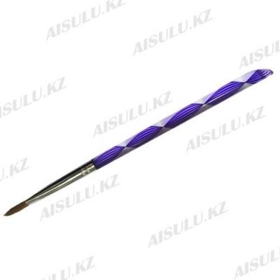 Кисточка для акрила №555 - 7# (с прозрачной ручкой) AISULU
