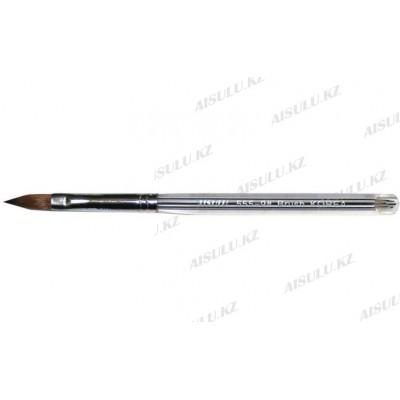 Кисточка для акрила №555 - 9# (с прозрачной ручкой) AISULU
