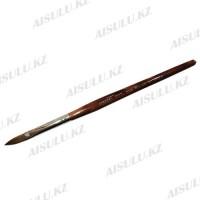 Кисточка для акрила №777 - 10# (с деревянной ручкой) AISULU