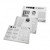Коврик-трафарет силиконовый 40 х 30 см для практики и шаблона маникюрных работ